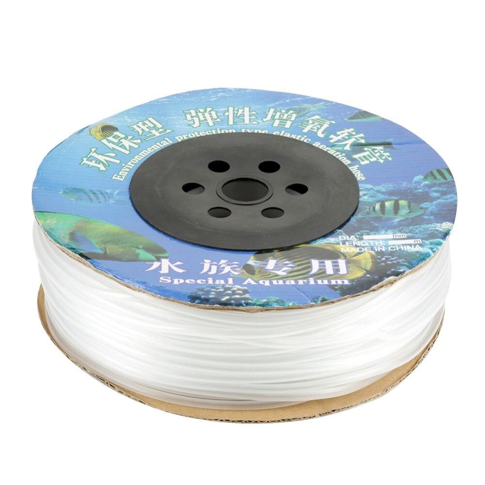 100 m Linha de Ar da Tubulação DO PVC para o Tanque de Peixes Do Aquário Bomba De Ar Do Aquário Linha de Ar da Tubulação da Linha de Ar Tubulação para tanque de peixes