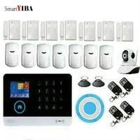 SmartYIBA     systeme dalarme de securite domestique sans fil  wi-fi  Gsm  Kit de detection de camera IP  controle par application  anti-cambriolage  telecommande