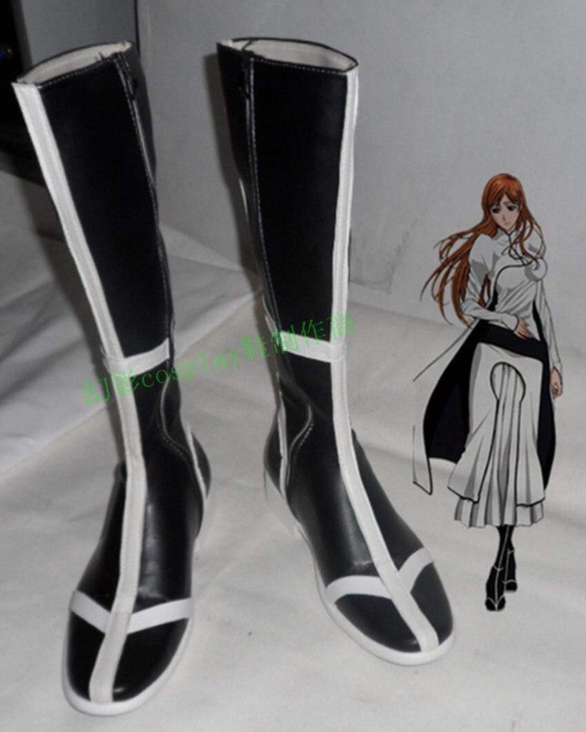 Lejía noue Orihime negra de Halloween Cosplay zapatos botas H016