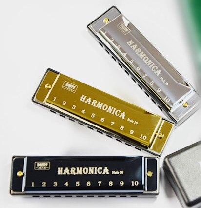 Juncos de cobre puro de tono C con 10 orificios, sintonización Manual, Panel de titanio negro, plateado, azul, verde, Unisex