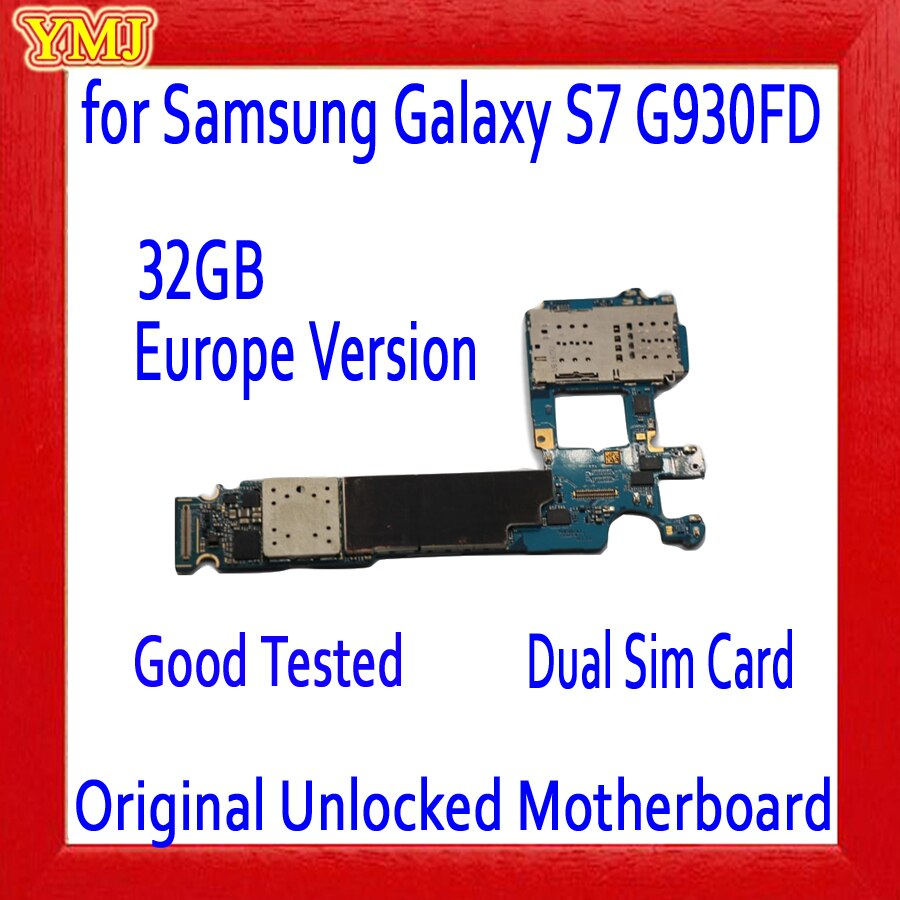 Dual Sim Card for Samsung Galaxy S7 G930FD Motherboard,Original unlocked for Galaxy S7 G930FD Mainboard,EU Version,Free Shipping