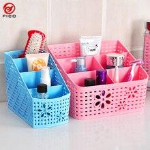 Boîtes de rangement multifonctions   Panier de rangement en plastique, support de crayon pour téléphone bureau, décoration