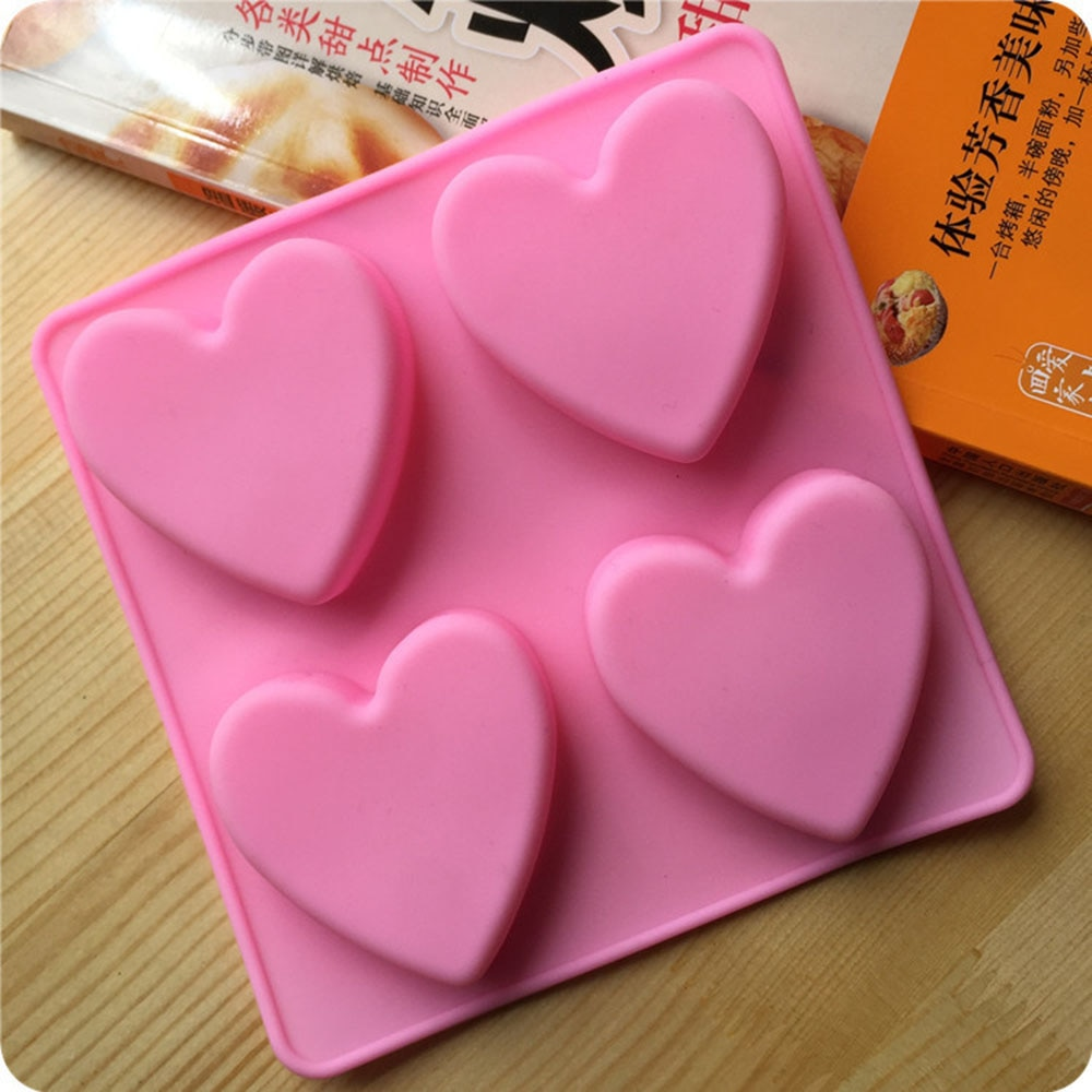 Silicona amor corazón moldes hielo-cubo Chocolate Fondant pastel gelatina bandeja molde cocina hornear pasteles herramientas hechas a mano jabón pastel