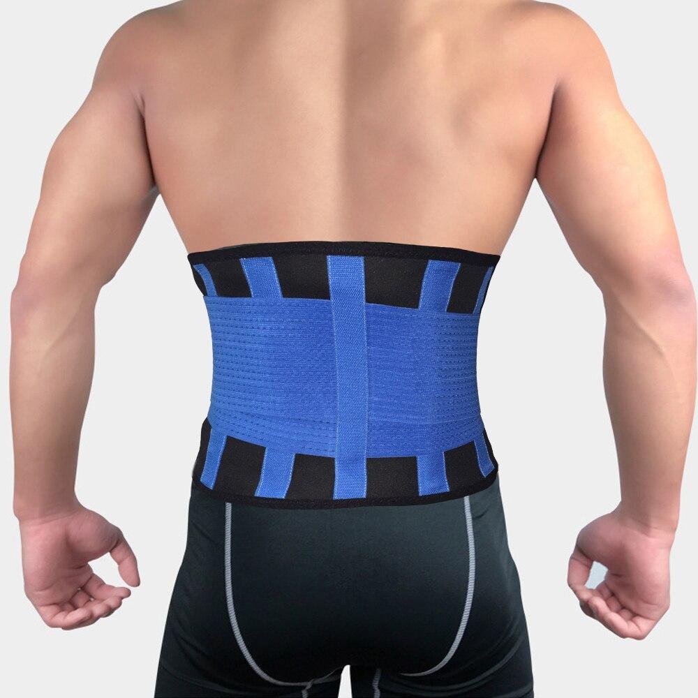 1 Pza mujeres hombres cintura recortador adelgazante cinturón Lumbar espalda columna soporte Brace ajustable Croset cuerpo ortopédico postura Corrector