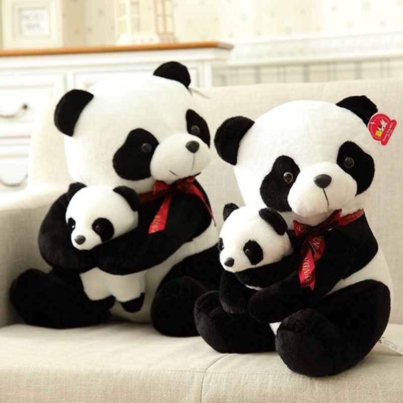 40cm 50cm Cute Panda Plush Toy Simulation Panda Stuffed Soft Doll Animal Plush Kids Toys High Qualit