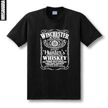 Supernatural SPN Cosplay koszulka z krótkim rękawem Unisex bawełna Oneck lato koszula Tee