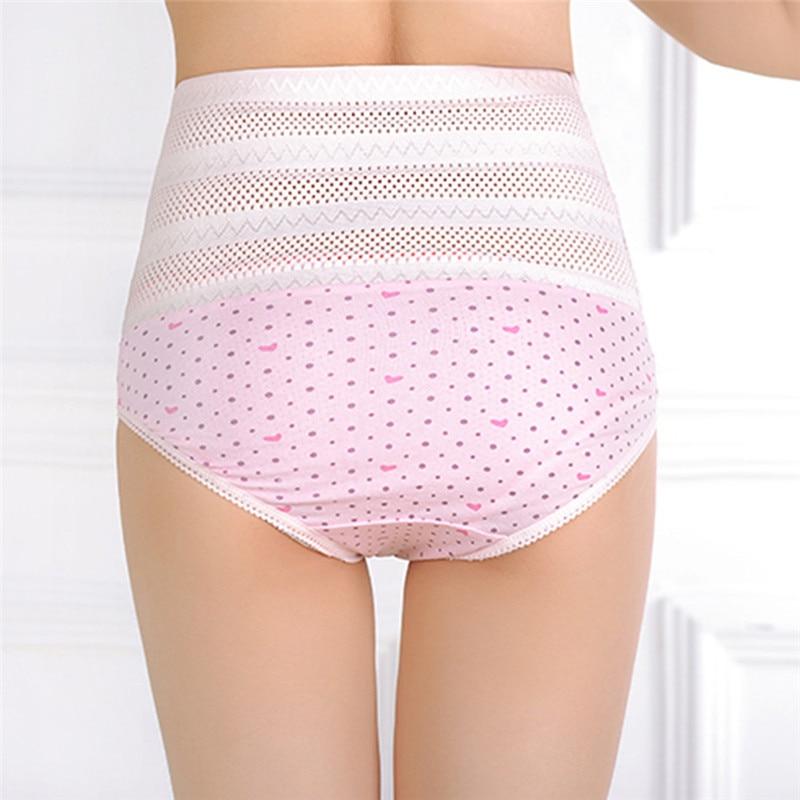 1pswomen's wysokiej talii majtki brzucha po porodzie matki bliscy underwear kontrola brzucha body shaper figi l-xxl nago/różowy 14