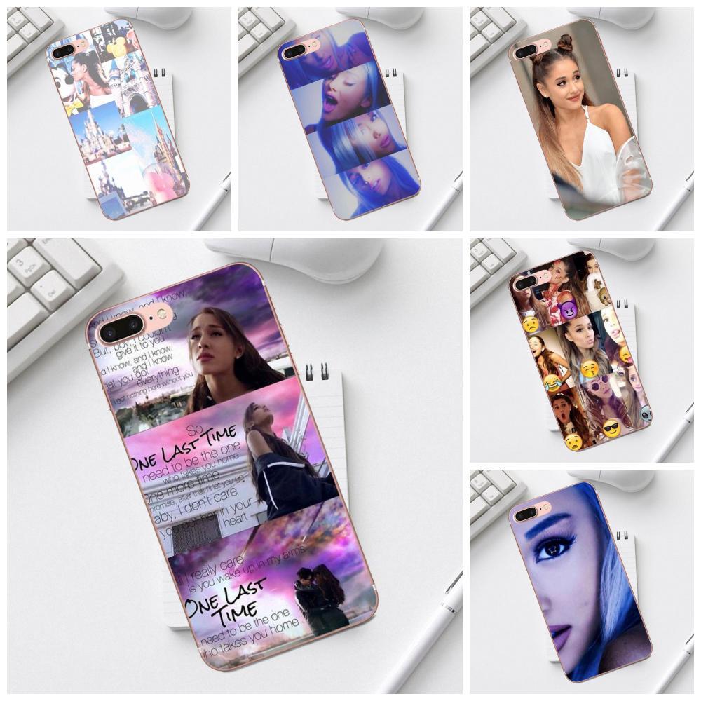 Qdowpz lindo teléfono caso Ariana Grande Collage para iPhone X XS X Max XR 4 4S 5 5C iPhone 6 S 7 8 Plus Galaxy A3 A5 J1 J3 J5 J7 2017