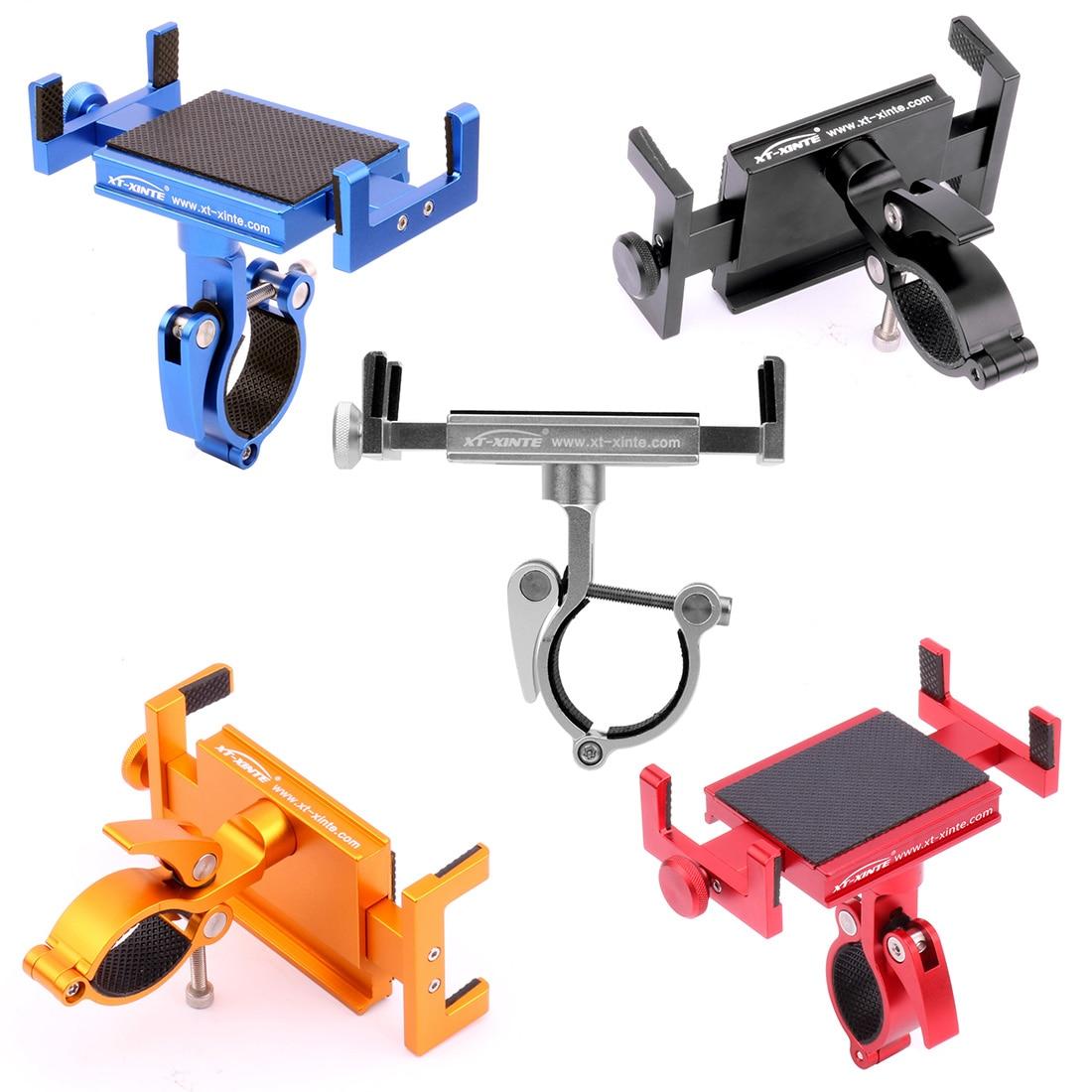 "Universal Bicycle Phone Holder Rotatable MTB Road Anti-Theft CNC Aluminum 3.5-6.2"" Smartphone Bike Handlebar Stem Stand Mount"