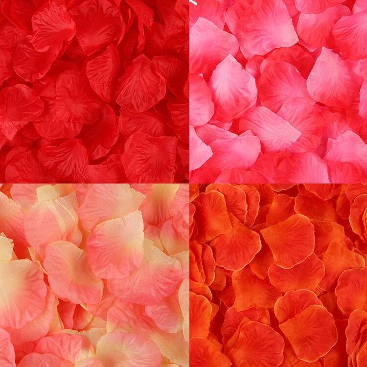 Pétalos De Rosa para Boda, flores artificiales De colores, accesorios De Boda,...