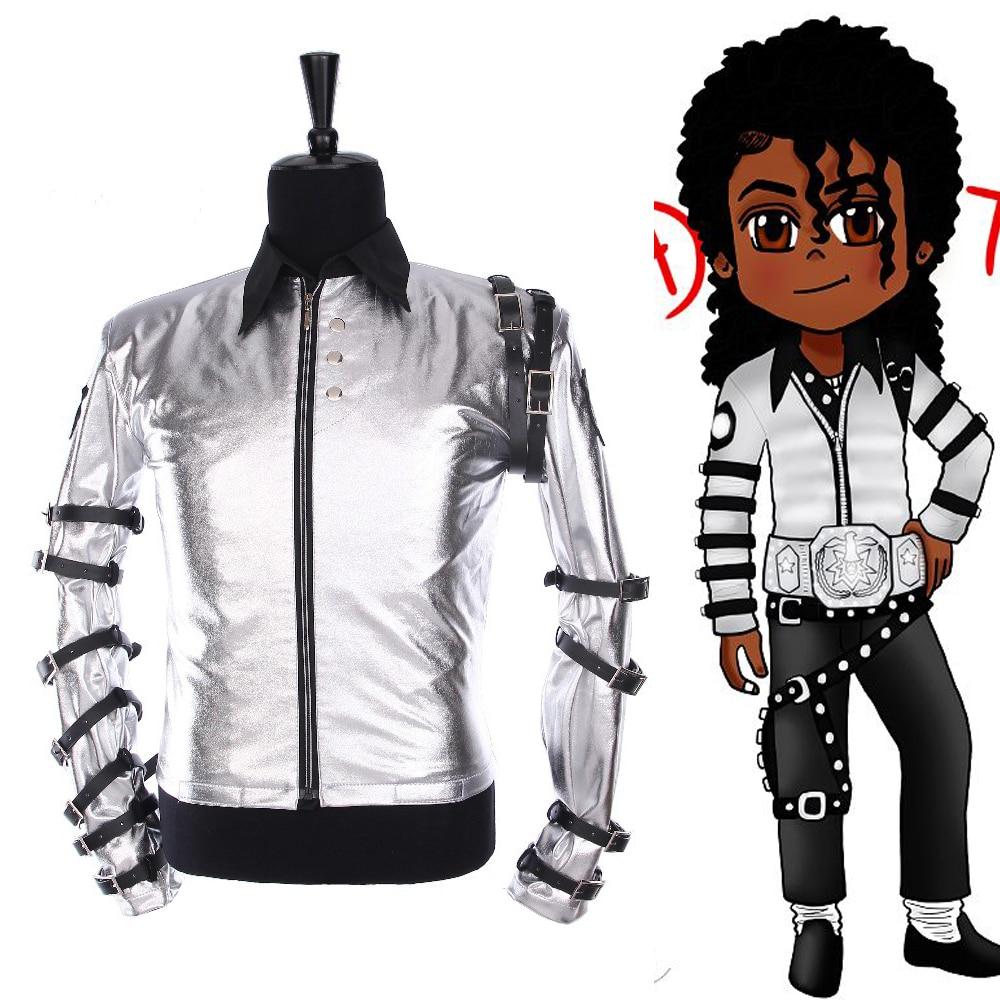جورب بانك MJ مايكل جاكسون ، جاكيت فضي كلاسيكي بجولة سيئة ، ملابس خارجية ، مجموعة هدايا Supprise