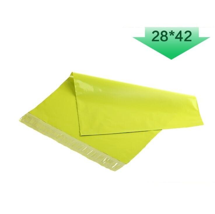 28x42cmGrass зеленая полиэтиленовая почтовая сумка-Органайзер Bolsas Storage Adesivos Plastic De Plastico Embalagem Saco Конверт Экспресс