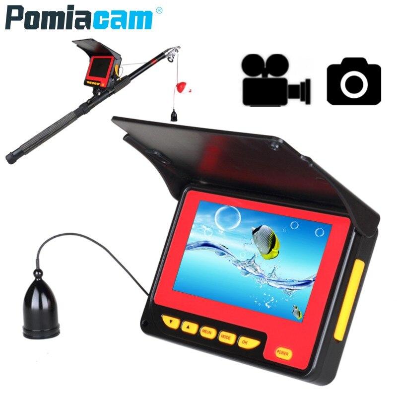 "SY720 20M 30M HD 1000TVL Fish Finder Underwater Ice Fishing Camera 4.3"" LCD Monitor 10PCS LED Night Vision Camera For Fishing"