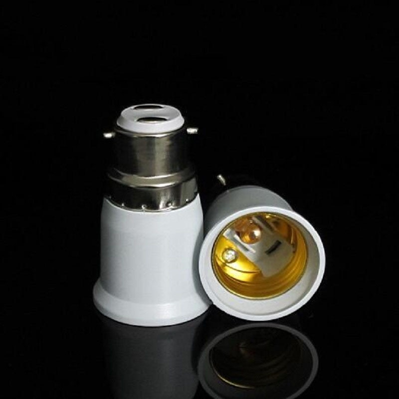 LED Halogen CFL Light Lamp Adapter B22 to E27 Bayonet Socket to Edison Fitting Globe X20