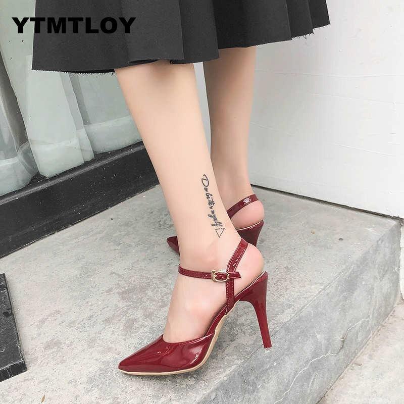 2019 zapatos de mujer de gamuza Multicolor elegantes zapatos de tacón alto y sandalias de vestir fiesta OL zapatos de San Valentín zapatos de mujer bombas de lujo