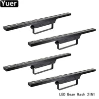 4pcslot beam wash 2in1 wall washer light dmx512 72pcs rgb 3in1 smd dj disco light color music club stage wash wall lihgts