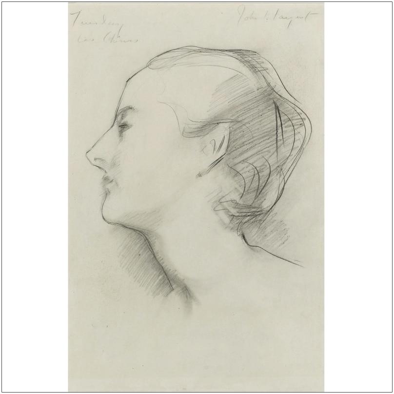 Retrato de niñas retrato clásico póster boceto pintura carteles con retrato decoración de Arte Moderno boceto John Singer Sargent