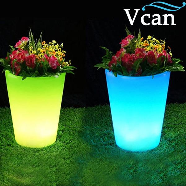 Best Quality 2016 LED Light colours change rechargeable remote control Glow Flower Pot VC-F3040