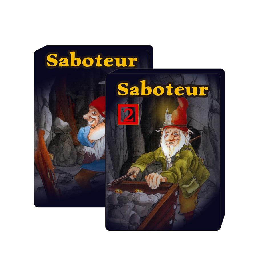 2021 Saboteur 1 & saboteur 1+2 card game full English jogos de tabuleiro dwarf miner jeu de new the duel board game