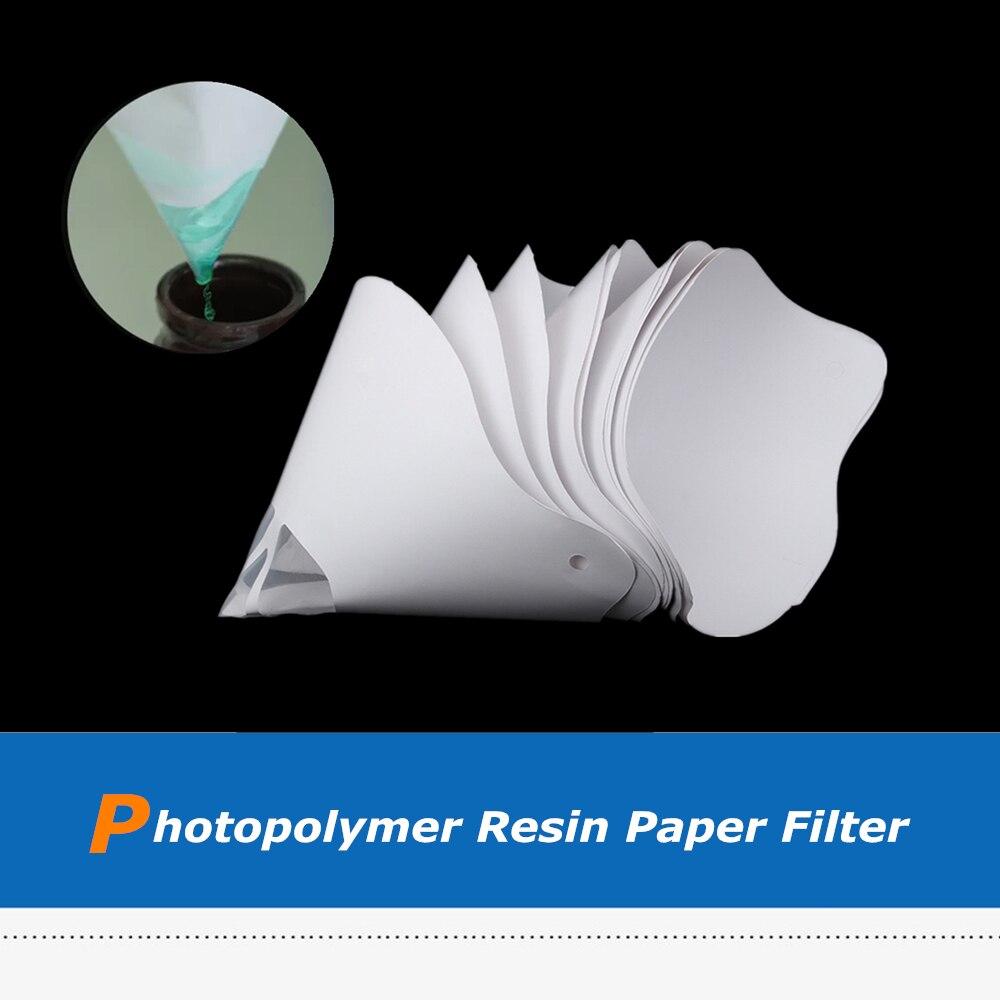 10 Uds resina espesa papel Pilter desechable para ANYCUBIC/WanHao fotón SLA DLP UV 3D piezas de impresora accesorios filamento de resina