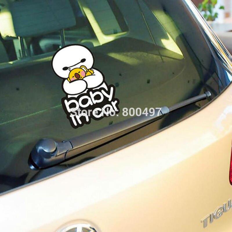 10 x Newest Big Hero 6 Baymax Baby in Car Car Body Stickers Car Decal for Toyota  Chevrolet Volkswagen Tesla Hyundai Kia Lada