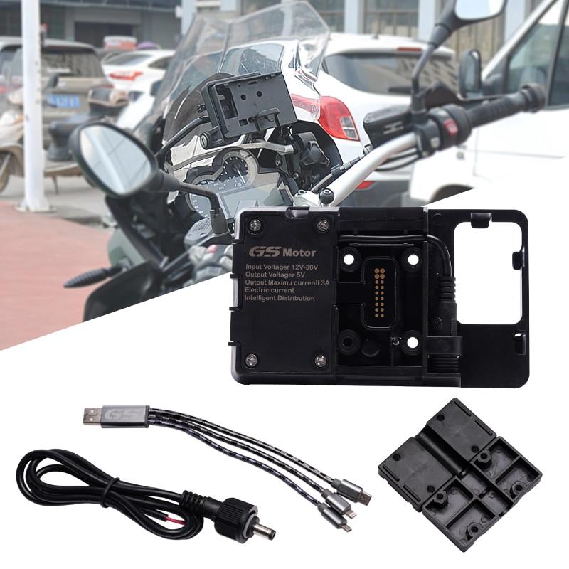 for BMW R1200GS 2013-2017 R1250GS 2019 F750GS F850GS CRF 1000L F700GS f800GS Mobile phone Navigation phone bracket USB charging