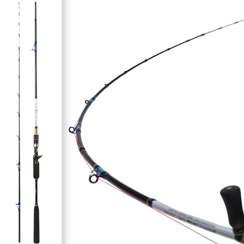 2,1 m 8-40g luz Jigging lento caña de pescar de acción rápida de carbono guías giratorias asiento Titan besugo snapper