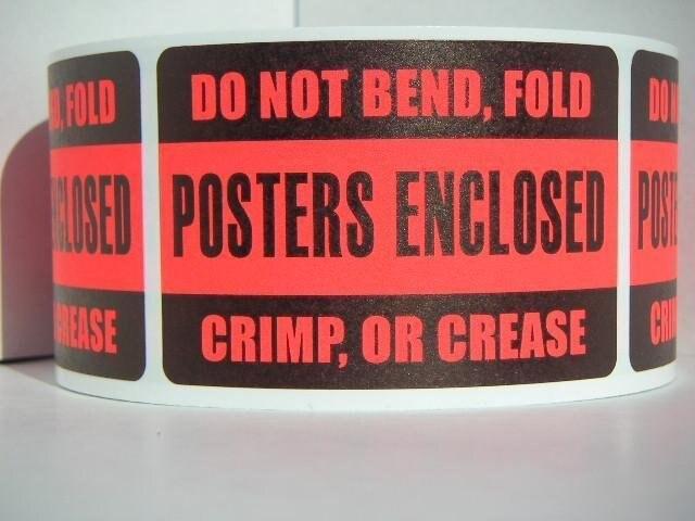2000 unids/lote 76x51mm no se doblan, doblan, engarzan o doblan, carteles cerrados, adhesivo/etiqueta de envío, artículo No. DN17
