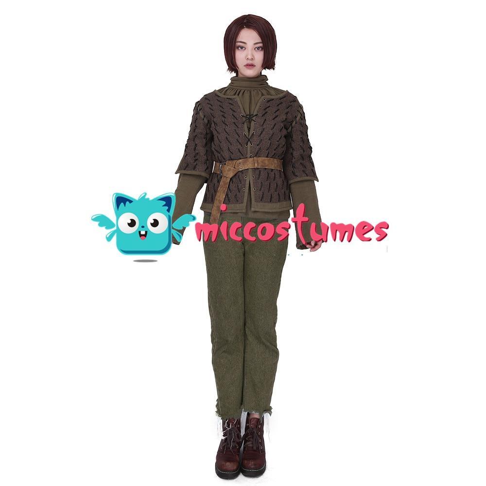 Arya Stark disfraz Cosplay para mujer Halloween traje