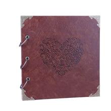 26x27cm Valentine Scrapbook Album Photo en cuir bricolage mémoire Album Photo pour saint valentin mariage anniversaire cadeaux