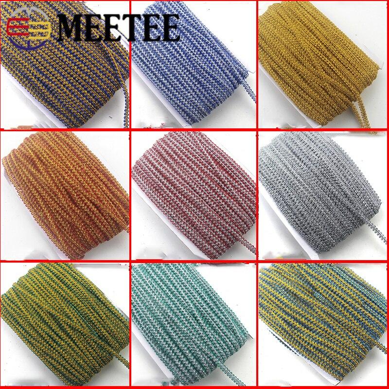 1 ud. (45m) 1cm cinta de ajuste de encaje trenzado de punto de decoración de encaje ondulado de colores accesorios DIY ropa de casa accesorio de costura