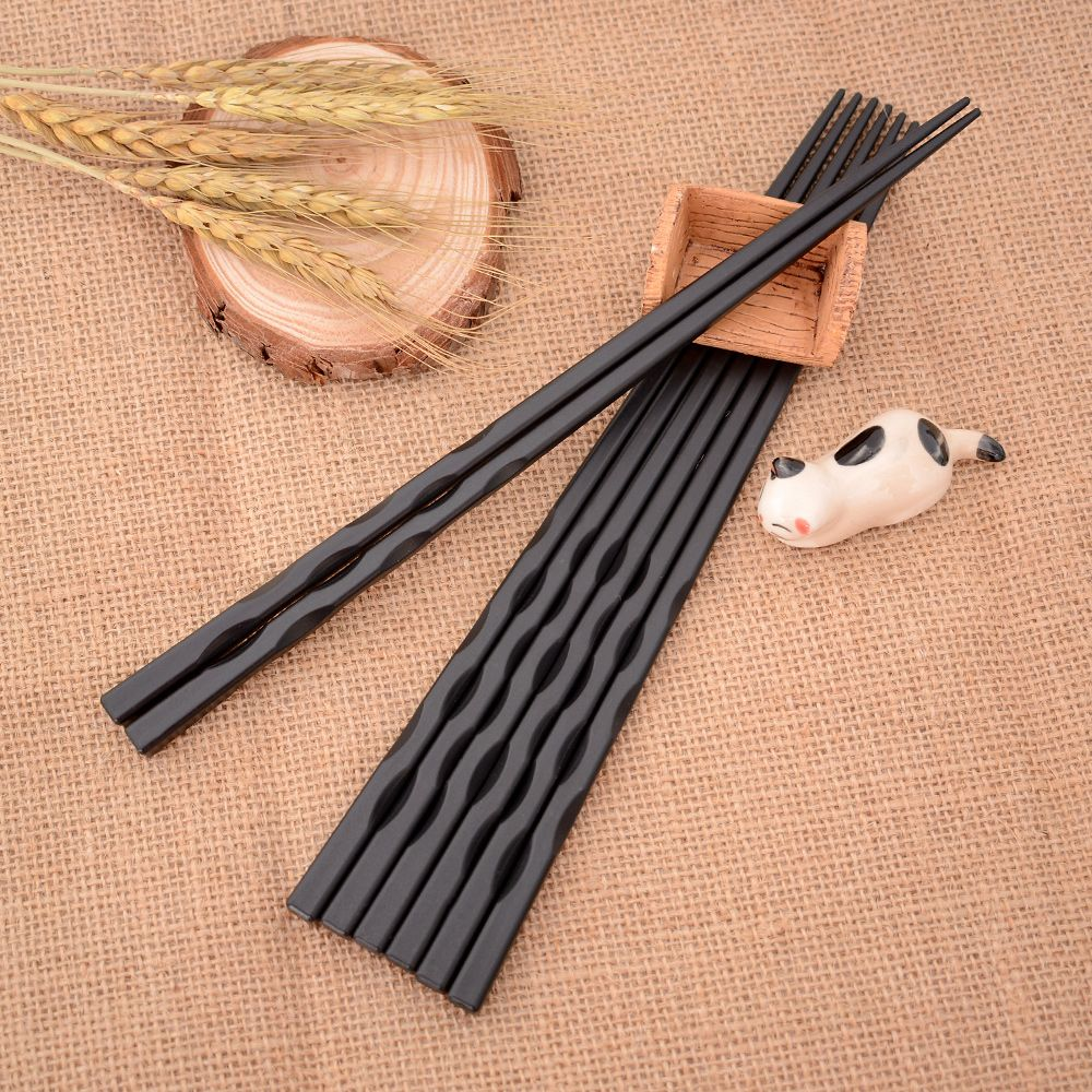 1Pair Japanese Chopsticks Alloy Non-Slip Sushi Chop Sticks Set Chinese Gift Hot 23 cm