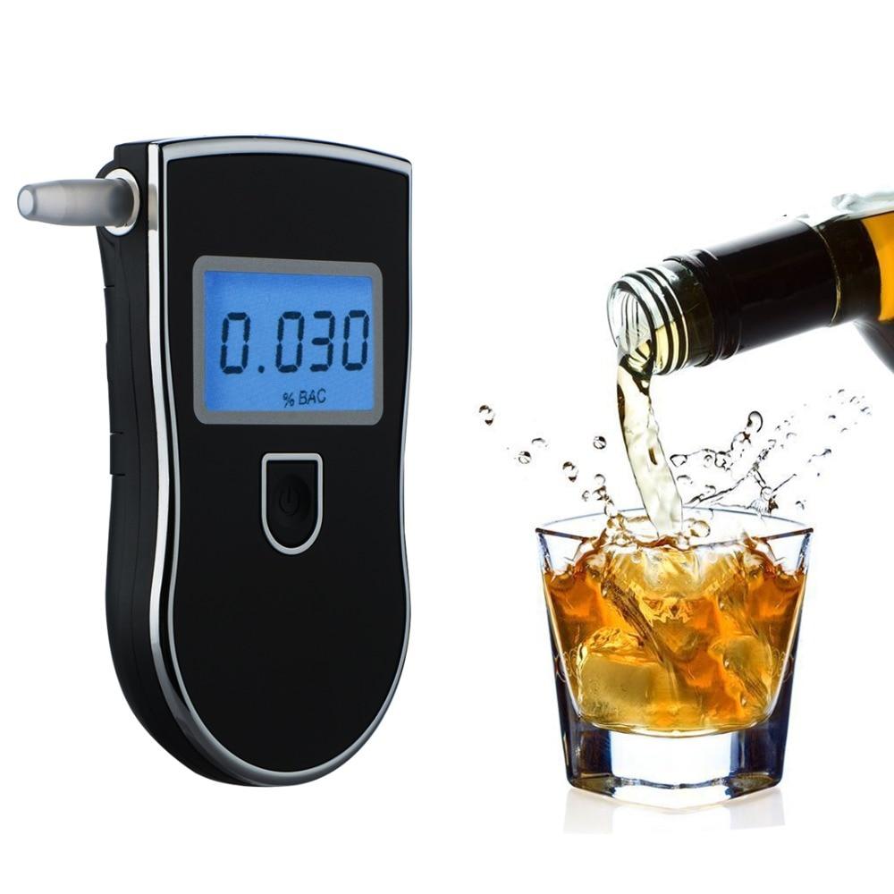 Probador profesional de Alcohol de policía LCD pantalla Digital de respiración de Respuesta Rápida