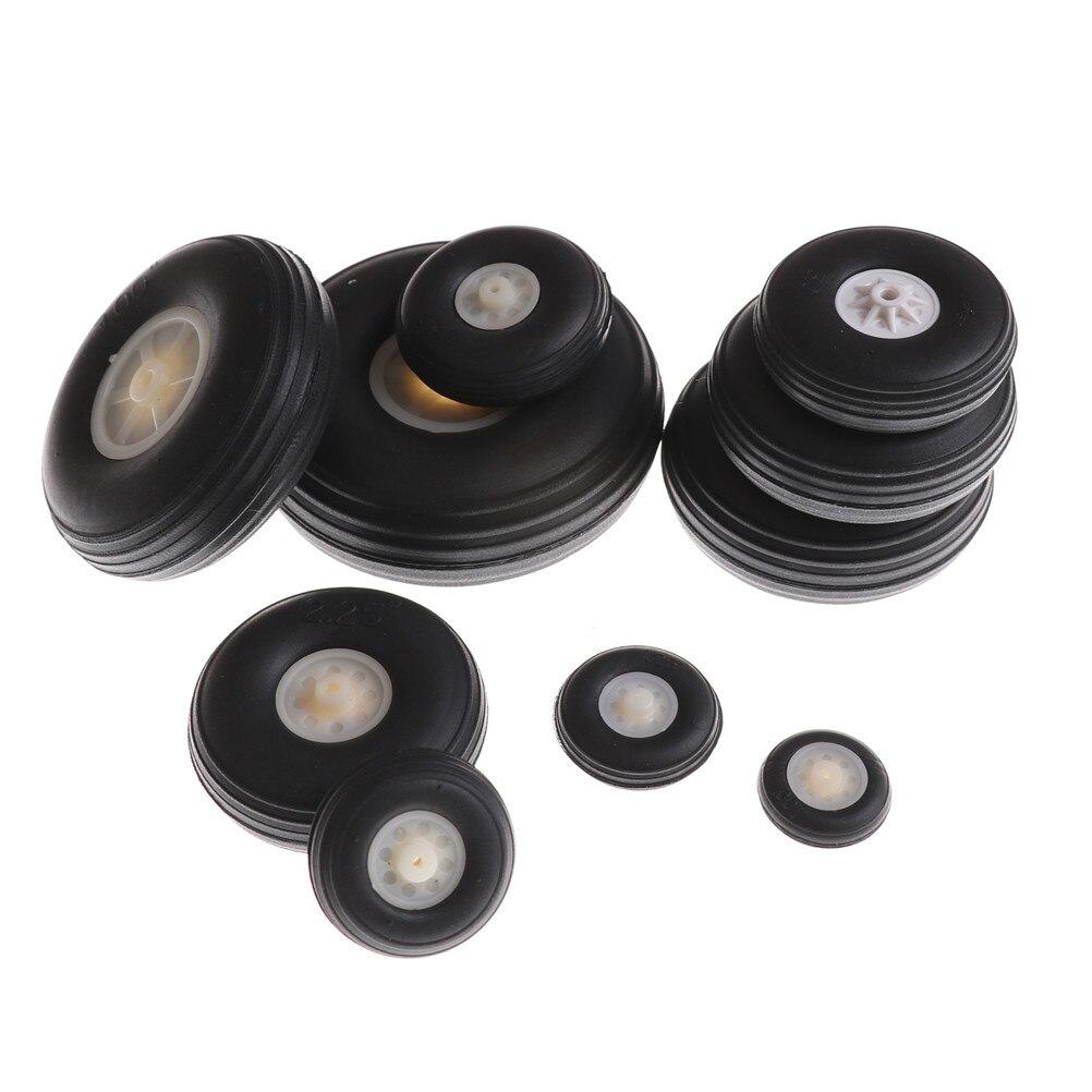 """2 uds cubo de plástico de PU de goma negro y blanco 1 """"-3,5"""" pulgadas para piezas de repuesto de Avión RC"""