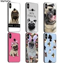 MaiYaCa mignon chiot carlin chien vadrouilles étui pour Xiaomi Redmi Note 8 K30 9 Pro 7 8T 9 S 7A 8A Mi 10 9T 9 SE A3 Max3 Mix3