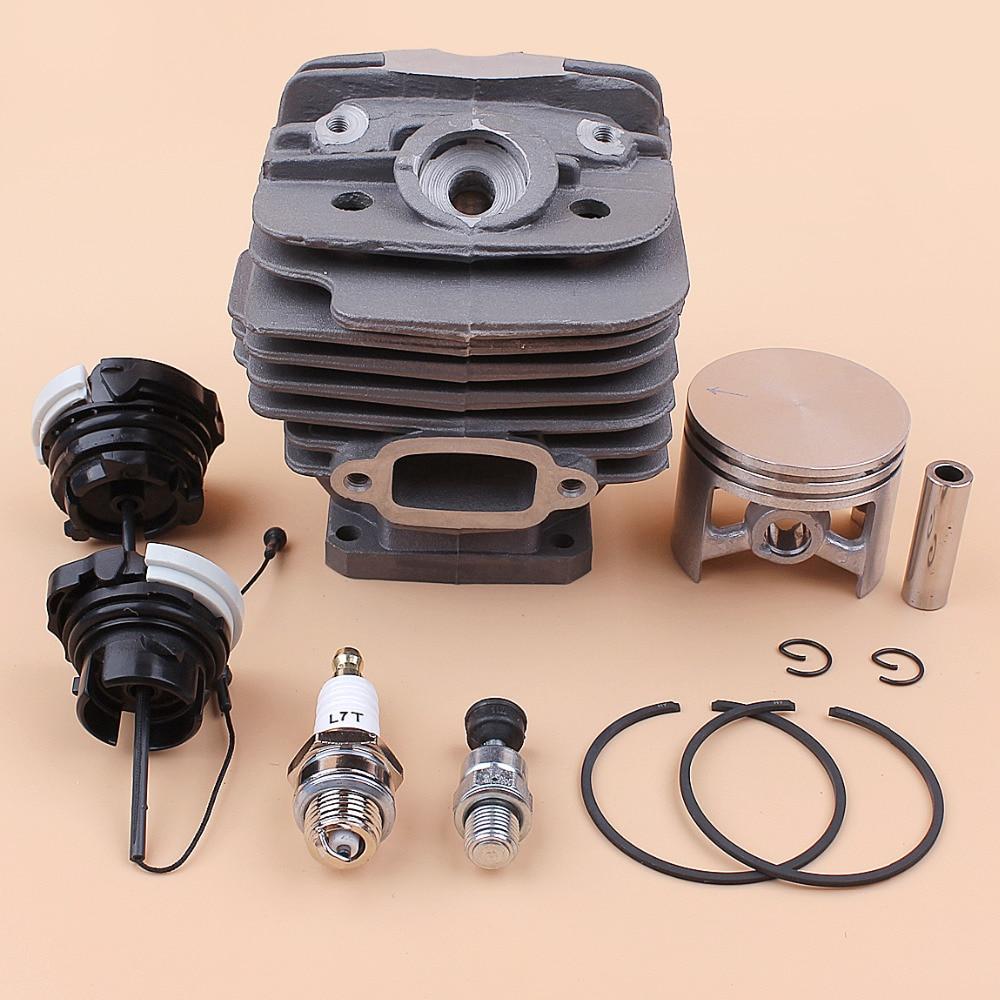 Kit de válvula de descompresión de tapa de aceite de combustible de pistón de 48MM compatible con STIHL MS360 MS340 034 036 piezas de repuesto de motor de motosierra 10mm Pin