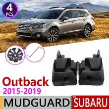 Car Mudflap for Subaru Outback 2015 2016 2017 2018 2019 Fender Mud Guard Flap Splash Flaps Mudguards Accessories 5th 5 Gen