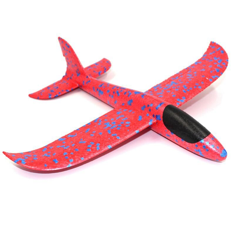 1Pcs EPP 거품 손 던지기 비행기 옥외 발사 글라이더 비행기 아이 선물 장난감 34.5*32*7.8cm 재미있는 장난감 교육 로봇 장난감
