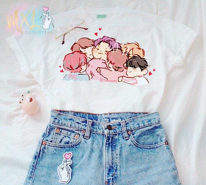 Футболка hahayule BTS KPOP, футболка SUGA V Jimin с буквенным принтом, K, Pop, Bts, хип-хоп, Bts, K-pop, футболка с коротким рукавом