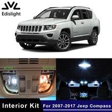 Edislight-Kit dintérieur de ampoules de voiture   Bleu, blanc glace Canbus 2007, Kit pour 2017-Jeep, boussole, carte dôme, lumière 10 pièces