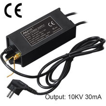 10KV 30mA 100 واط CE شهادة النيون تسجيل الإلكترونية عالية التردد محطة تزويد محولة للطاقة المعدل الصابورة