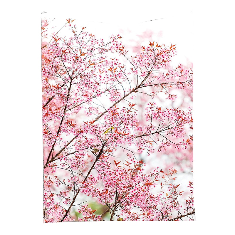 Sakura-tapisserie murale suspendue   Cerisiers, fleurs, parc jardin printemps