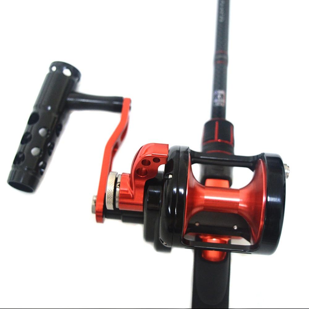 TC500 Baitcasting Reels Ocean Boat Fishing All-metal  drum wheel 9+2BB  Ratio 6.3:1 dual brake syste casting fishing wheel enlarge
