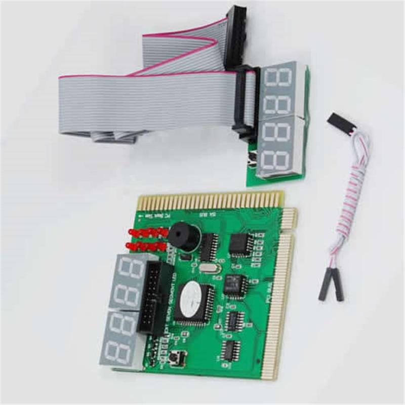 9cm * 8,2 cm análisis informático PCI tarjeta postal pantalla LCD placa base LED de 4 dígitos prueba de diagnóstico Analizador de PC para PC portátil de escritorio