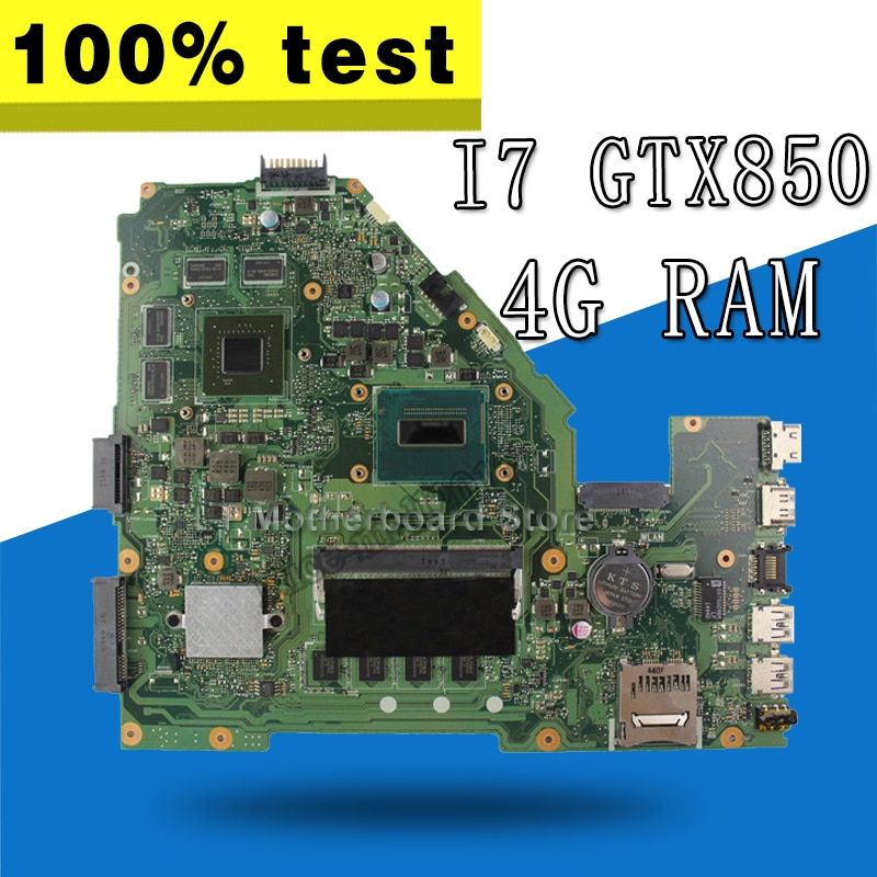 X550JK GTX850 I7 CPU Motherboard Para ASUS X550JD X550JK FX50J A550J X550J Laptop motherboard Mainboard X550JK X550JK Motherboard