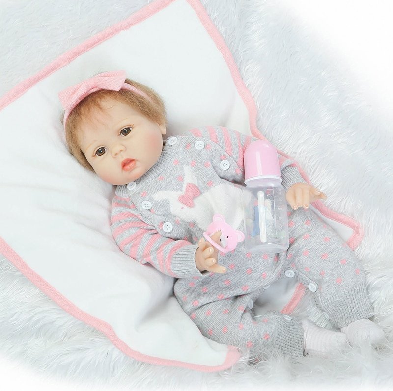 "22 ""muñecas rebron baby, chupete de moda, muñeca de bebé falso recién nacido, slicone reborn, muñecas para niñas, juguetes para bebés, muñecas"