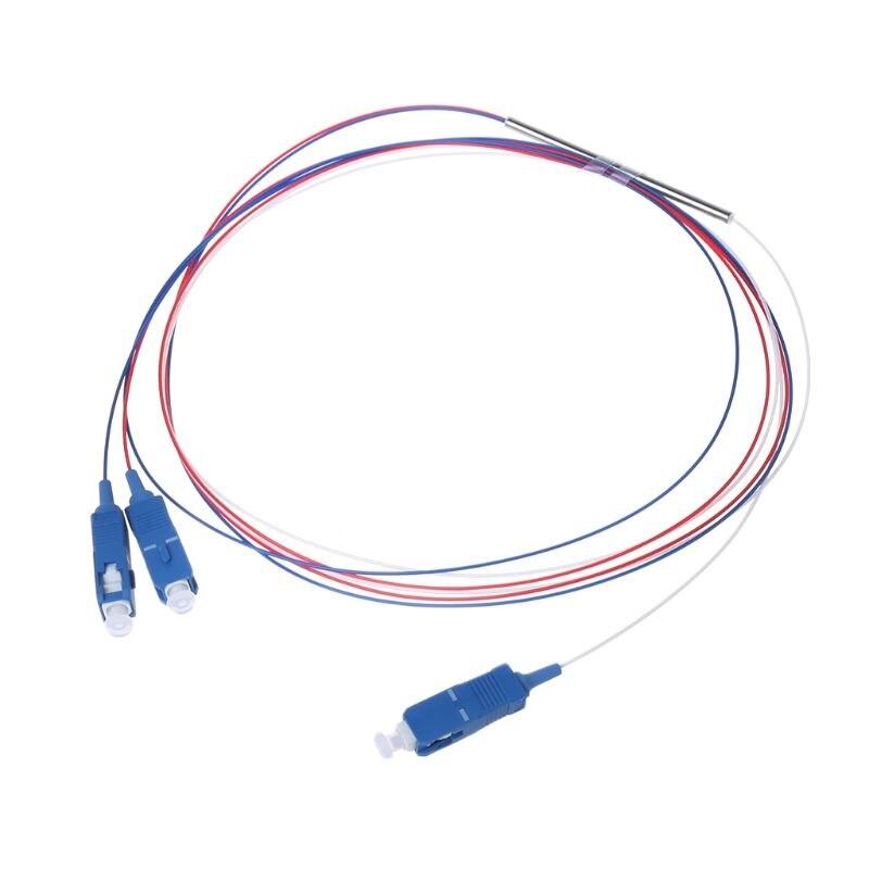 1x2 APC/UPC divisor fibra óptica Mini tubo de acero paquete conector FBT grado