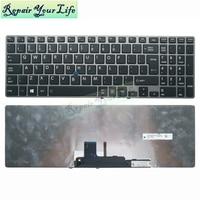 Backlit English laptop keyboard for Toshiba Tecra Z50 Z50-A Z50-A1502 Z50-A1510 US layout Replacement Keyboards gray frame