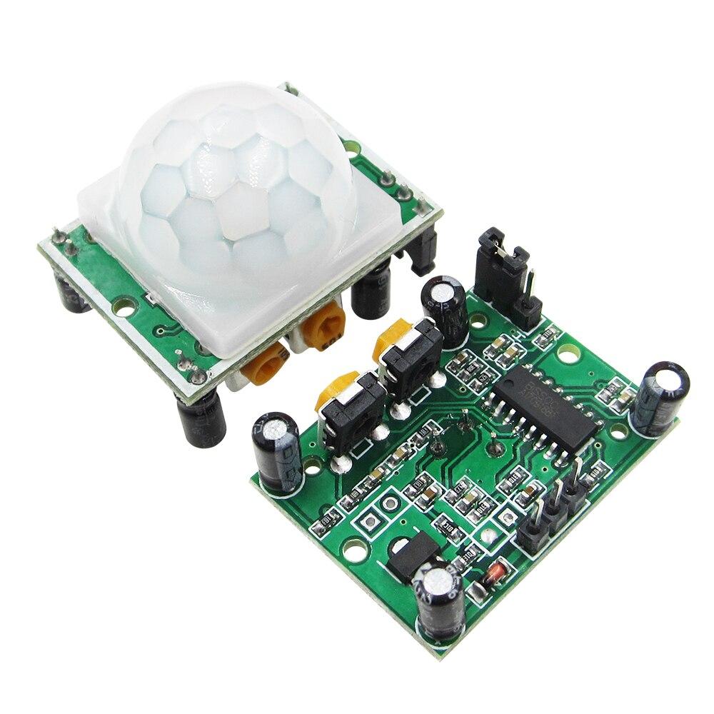 10 PCS HCSR501 HC-SR501 Ajuste módulo IR Infravermelho Piroelétrico PIR Motion Sensor Detector Módulo