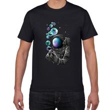YEV F629MT креативная хлопковая футболка, Мужская свободная крутая футболка с космонавтом, Повседневная летняя забавная футболка, футболка, муж...